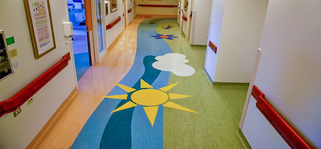 Resilient Flooring Installation in Hospital