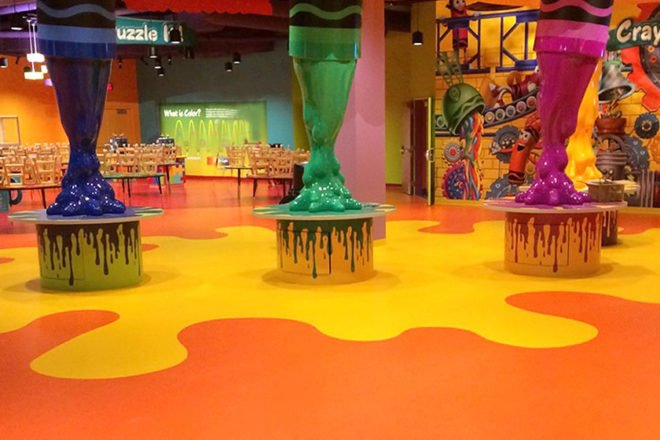 Crayola Experience flooring installation by INSTALL