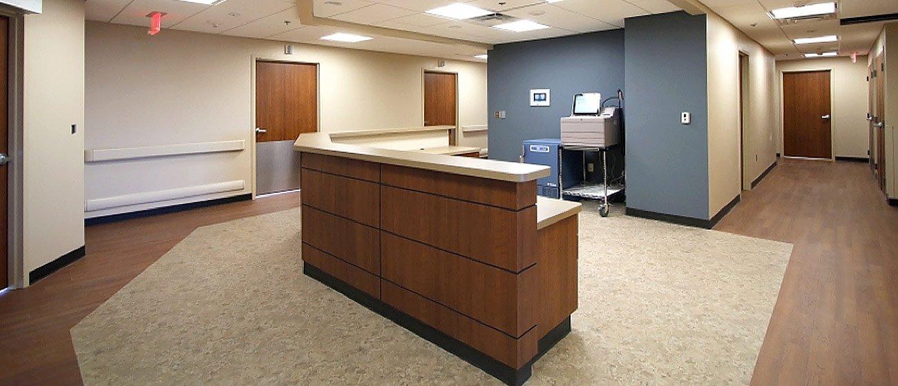 University Health Center flooring installation by INSTALL
