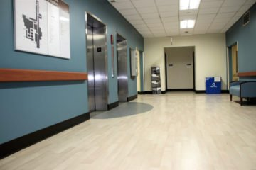United States Department of Veterans Affairs NIHCS Fort Wayne Campus elevator flooring installation project by INSTALL
