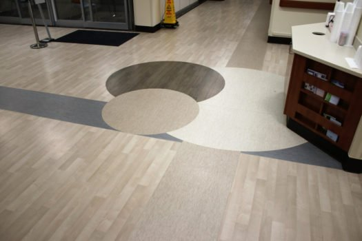 United States Department of Veterans Affairs NIHCS Fort Wayne Campus detailed flooring installation project by INSTALL
