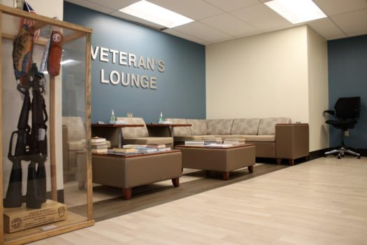 United States Department of Veterans Affairs NIHCS Fort Wayne Campus lounge flooring installation project by INSTALL