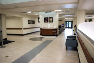 United States Department of Veterans Affairs NIHCS Fort Wayne Campus full welcome center flooring installation project by INSTALL