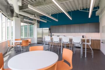 Axion RMS Headquarters flooring installation guaranteed by INSTALL Warranty Contractor Vortex Commercial Flooring