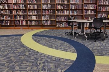 Conventional Carpet Scranton Middle School flooring installation by INSTALL Contractor