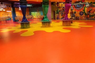 Crayola Experience + Store flooring installation by INSTALL