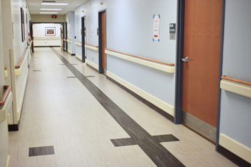 Edward Hines, Jr. VA Hospital flooring installation by NuVeterans Construction meets INSTALL VA Master Specification
