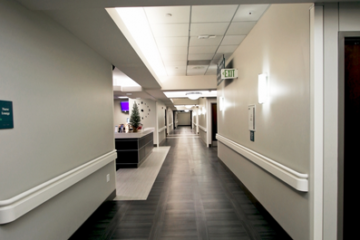 Flooring installation at Menorah Medical Center guaranteed by INSTALL Warranty Contractor Image Flooring