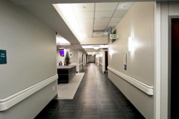 Flooring installation at Menorah Medical Center guaranteed by INSTALL Warranty Contractor Image Flooring