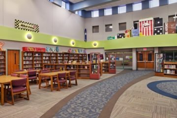 INSTALL Contractor Conventional Carpet flooring installation at Scranton Middle School