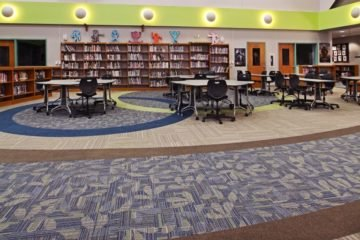 Scranton Middle School flooring installation by INSTALL contractor Conventional Carpet
