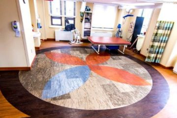 Veterans Affairs Michigan Rehabilitation Clinic flooring installation by INSTALL