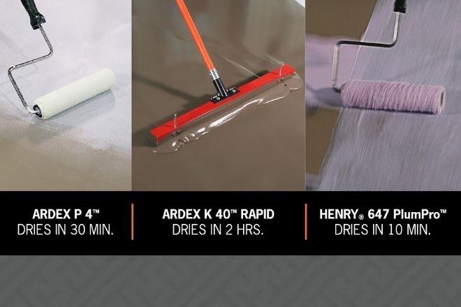 The ARDEX Rapid Flooring Installation System Installs in Under Three Hours